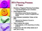 rfa planning process 2 years
