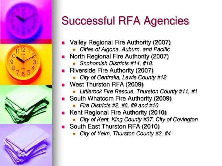 Successful RFA Agencies
