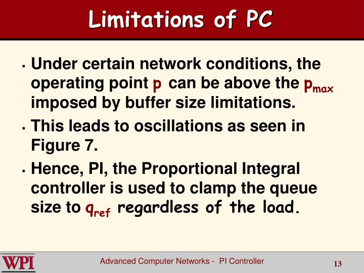 Limitations of PC