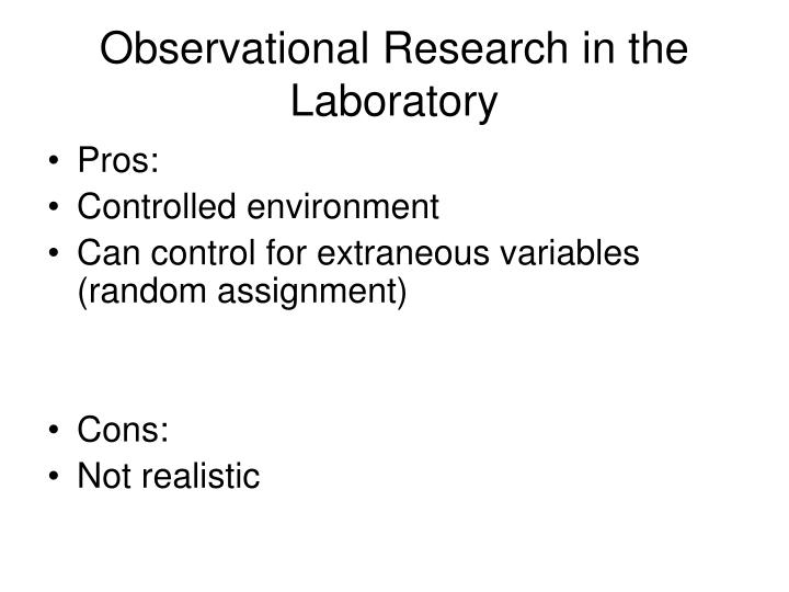 Observational Research in the Laboratory