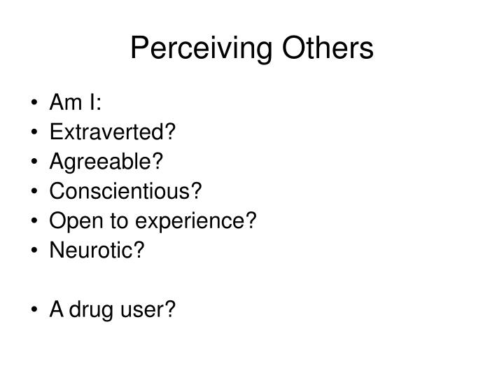 Perceiving Others