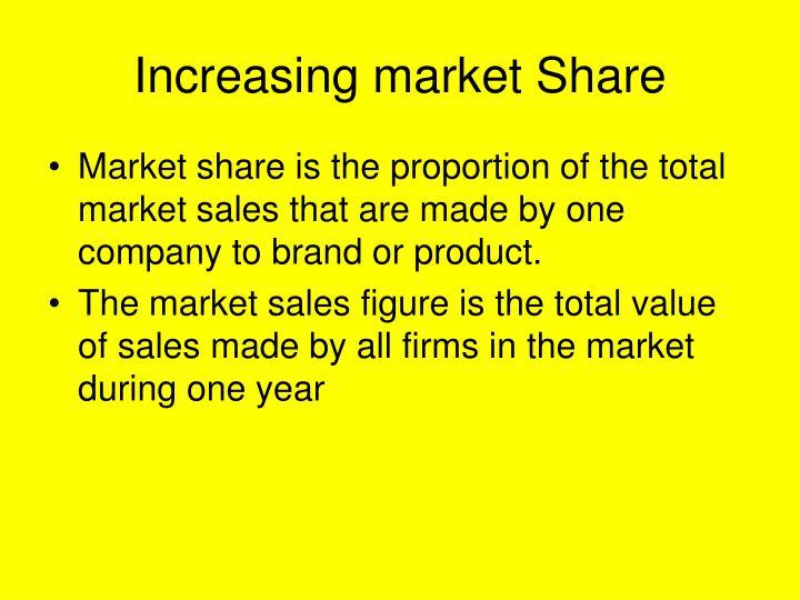 Increasing market Share
