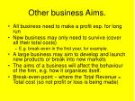 other business aims