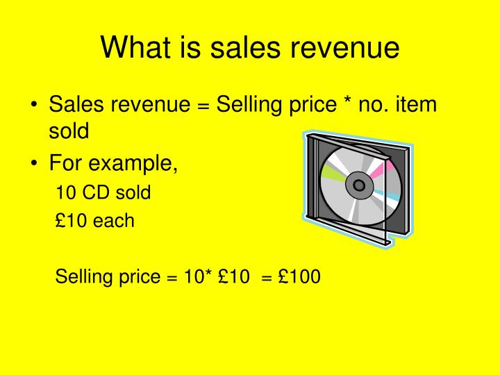 What is sales revenue