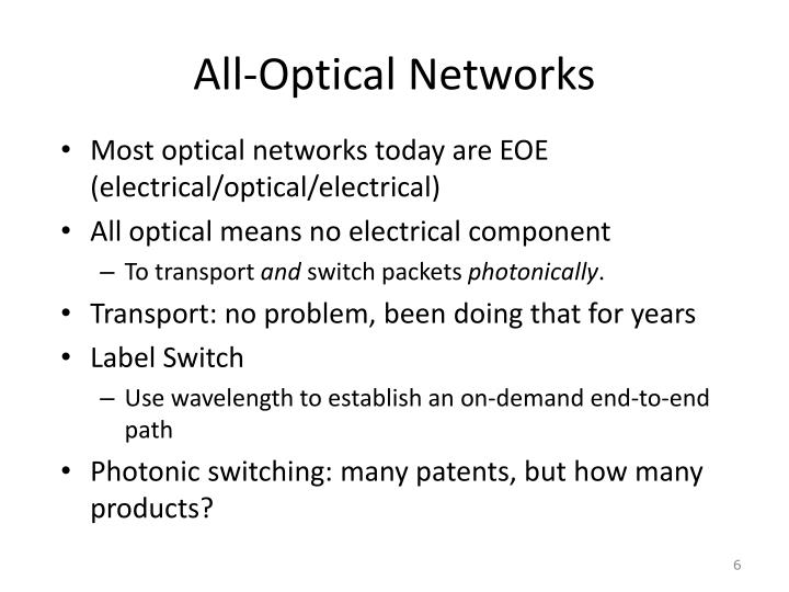 All-Optical Networks