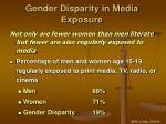 gender disparity in media exposure