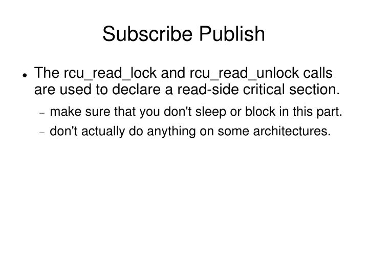 Subscribe Publish