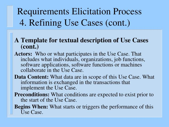 Requirements Elicitation Process