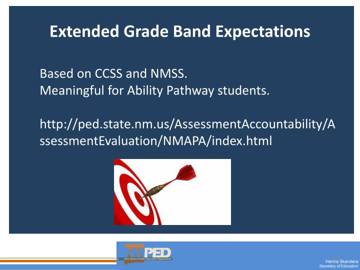 Extended Grade Band Expectations