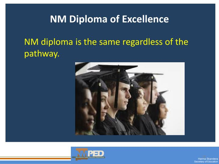 NM Diploma of Excellence