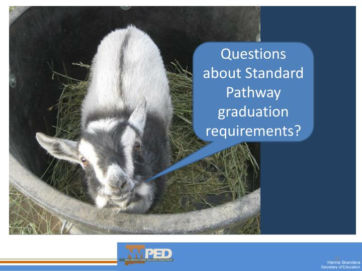 Questions about Standard Pathway graduation requirements?
