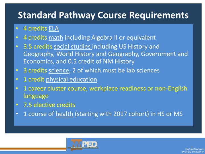 Standard Pathway Course