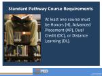 standard pathway course requirements1