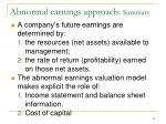 abnormal earnings approach summary