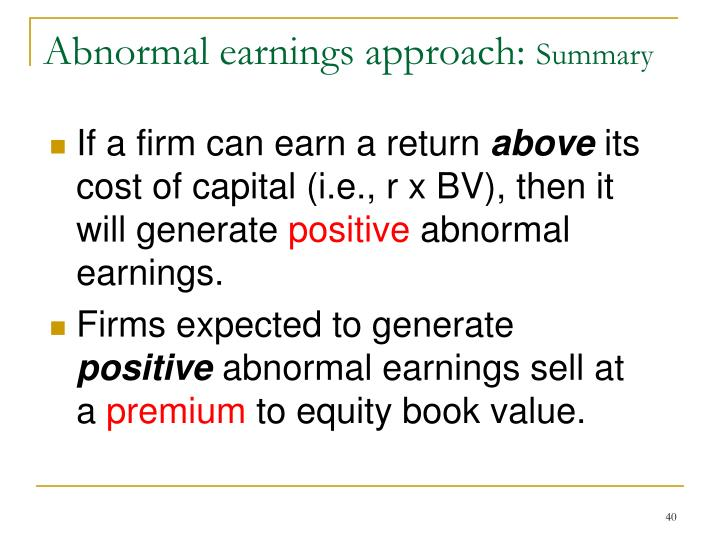 If a firm can earn a return