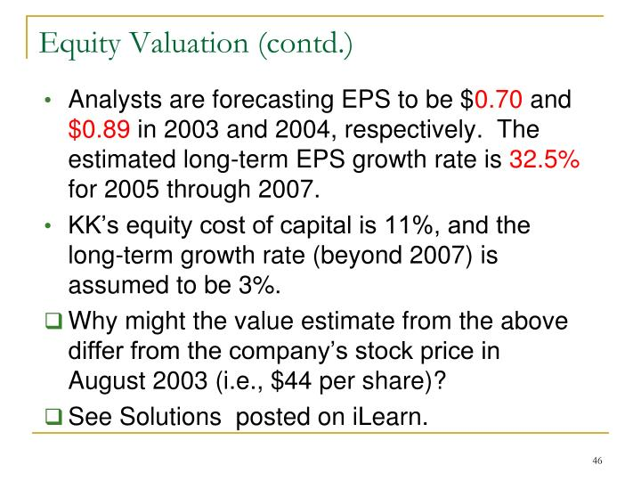 Analysts are forecasting EPS to be $