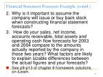 financial statement forecasts example contd3