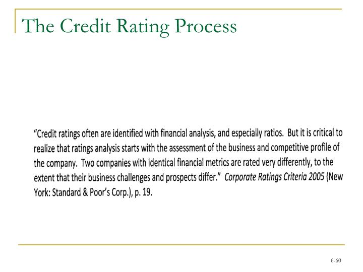 The Credit Rating Process