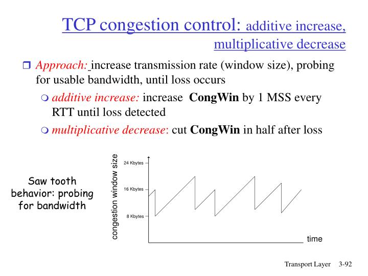 TCP congestion control: