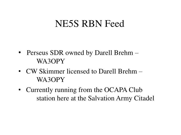 NE5S RBN Feed