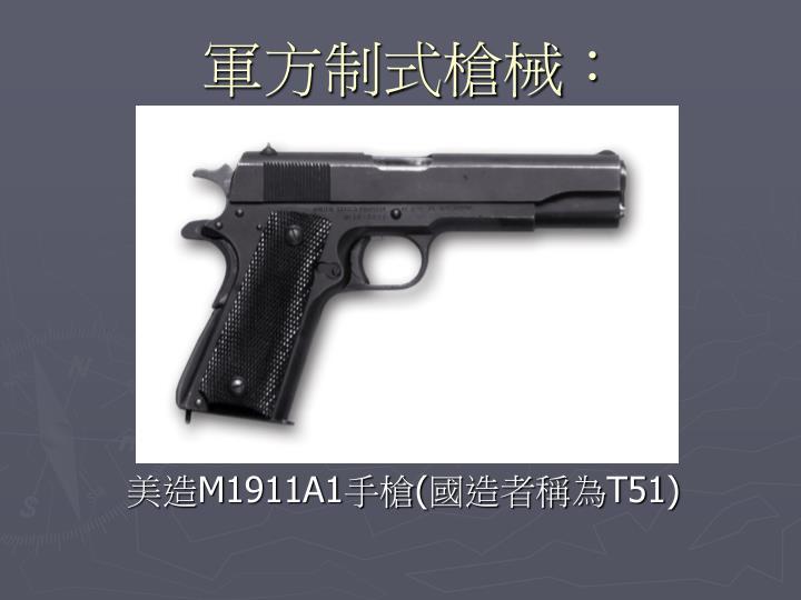 軍方制式槍械:
