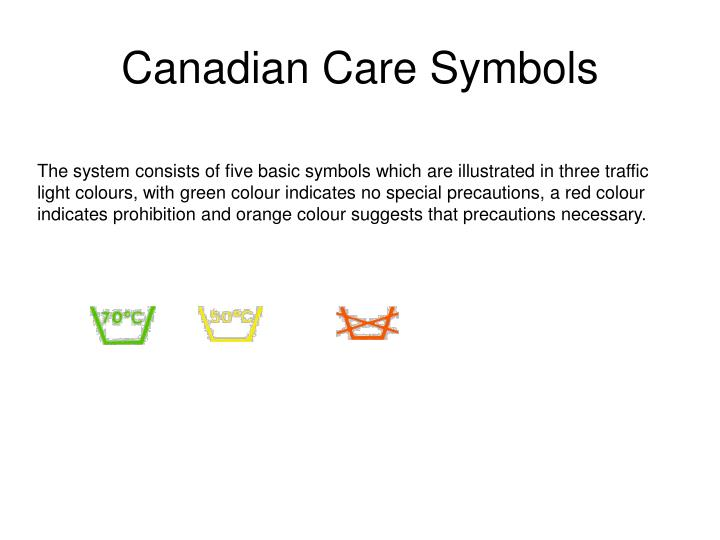 Canadian Care Symbols