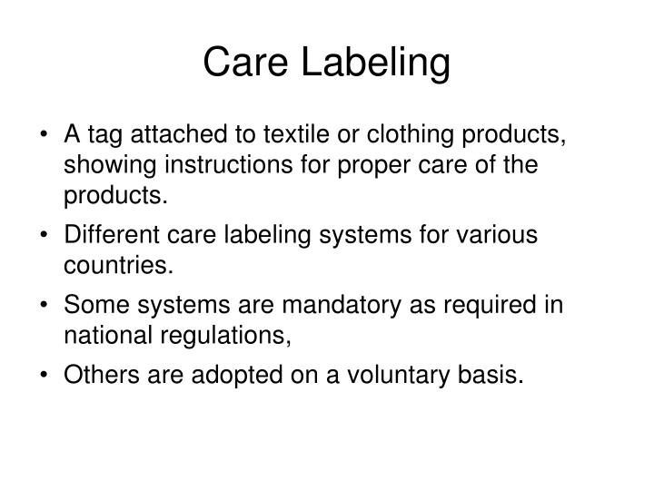 Care Labeling