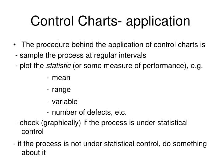 Control Charts- application