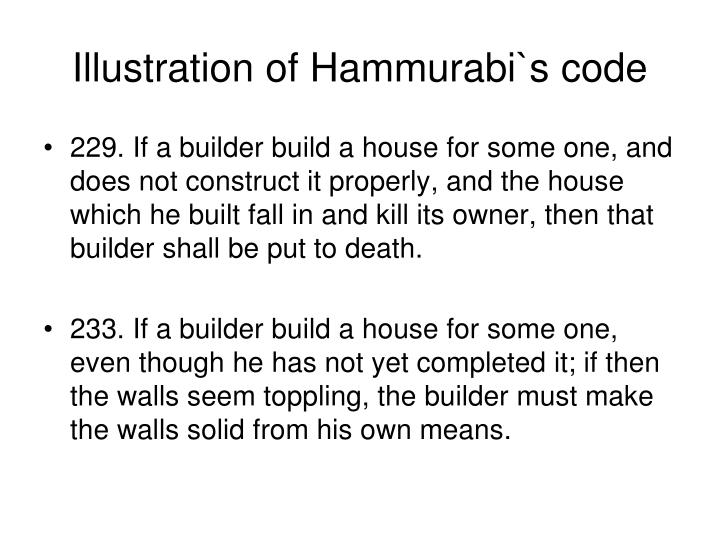 Illustration of Hammurabi`s code