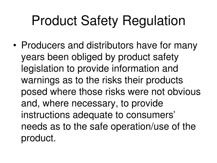 Product Safety Regulation
