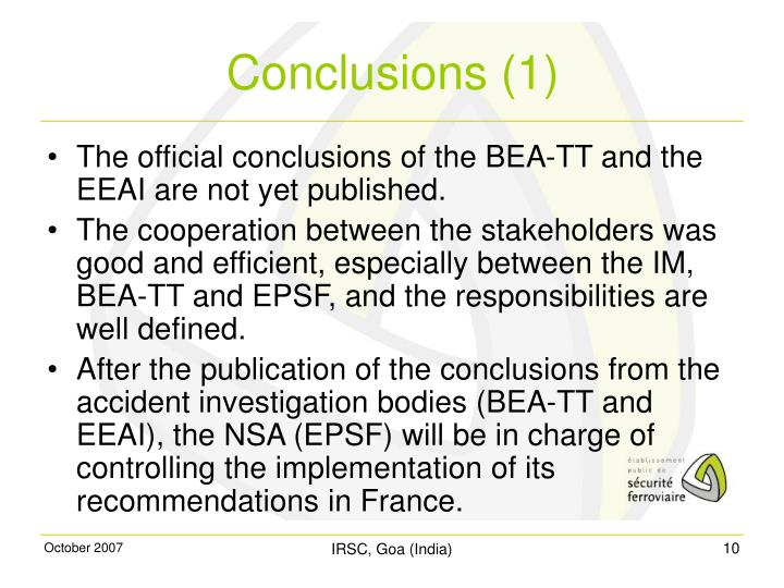 The official conclusions of the BEA-TT and the EEAI are not yet published.
