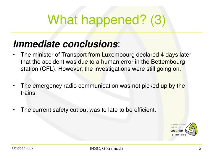 Immediate conclusions