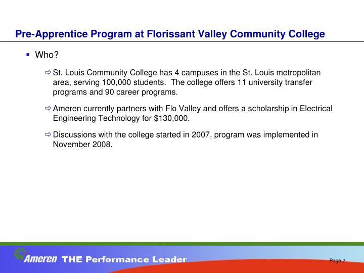 Pre-Apprentice Program at Florissant Valley Community College