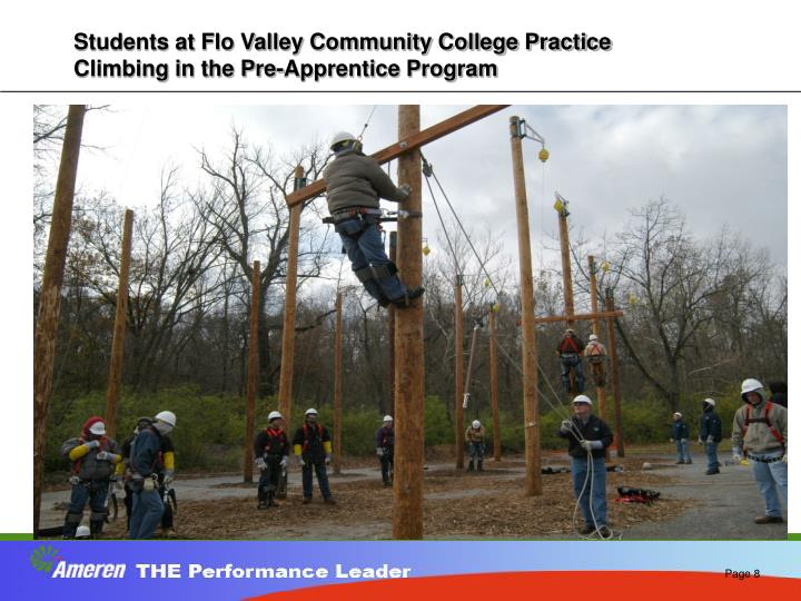 Students at Flo Valley Community College Practice Climbing in the Pre-Apprentice Program