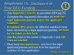 attachment 15 disclosure of prior dfc funding