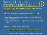 attachment 2 coalition involvement agreements cia