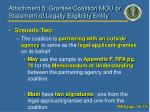 attachment 5 grantee coalition mou or statement of legally eligibility entity1