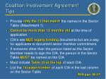 coalition involvement agreement tips