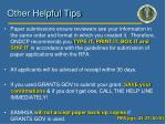 other helpful tips
