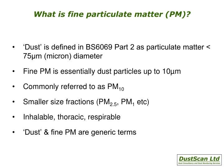 What is fine particulate matter (PM)?