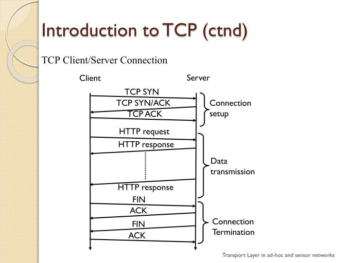 Introduction to TCP (ctnd)