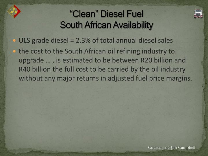 """""""Clean"""" Diesel Fuel"""