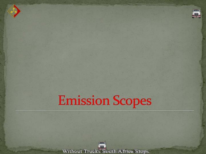 Emission Scopes