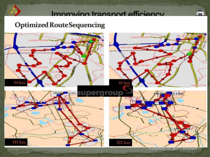 Improving transport efficiency