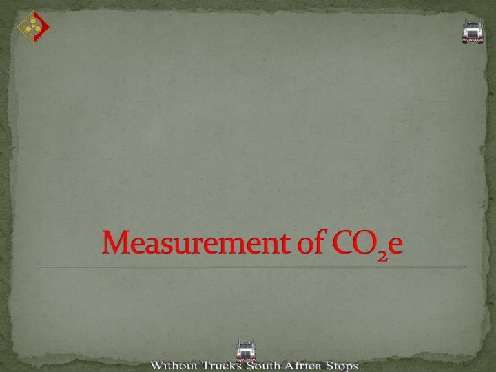 Measurement of CO