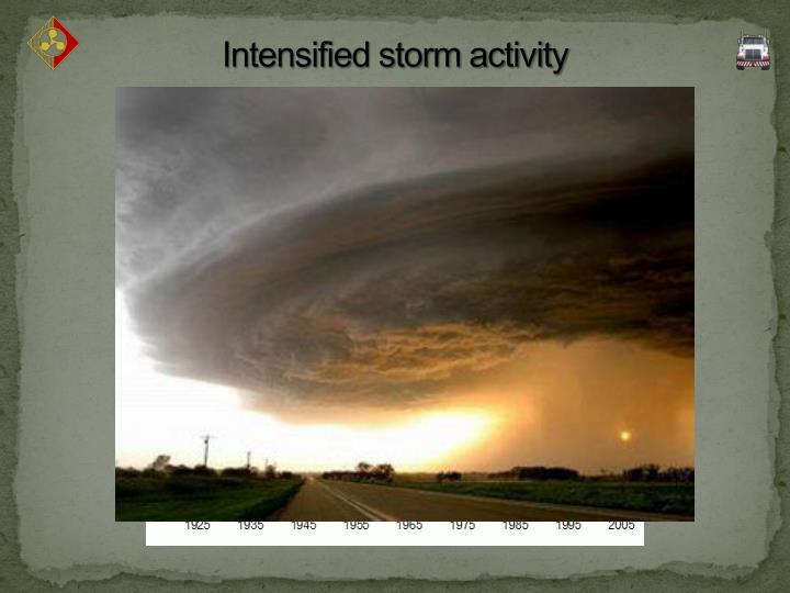 Intensified storm activity
