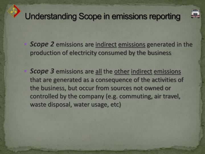 Understanding Scope in emissions reporting