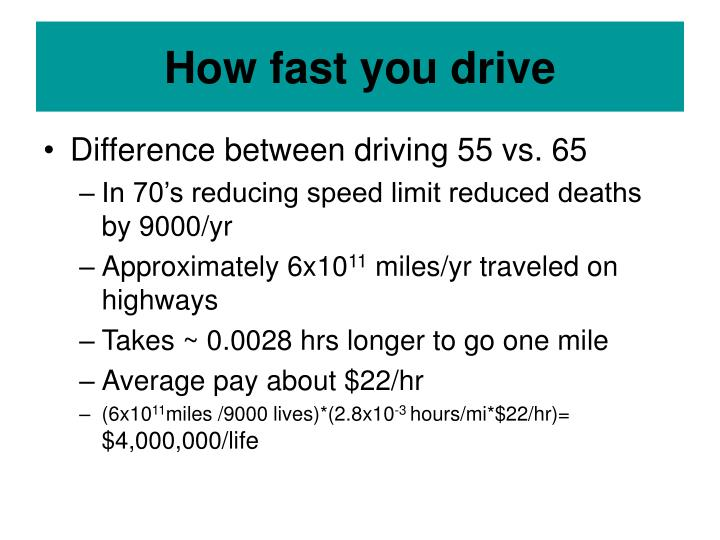 How fast you drive