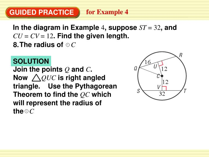 In the diagram in Example