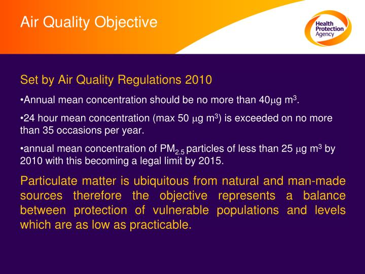 Air Quality Objective